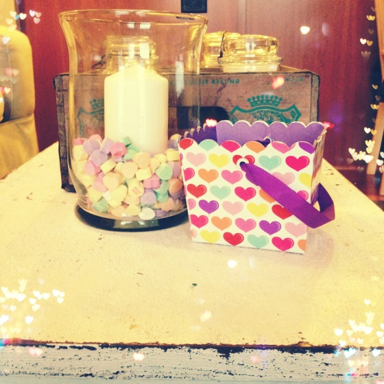 Valentine Sweethearts Candle