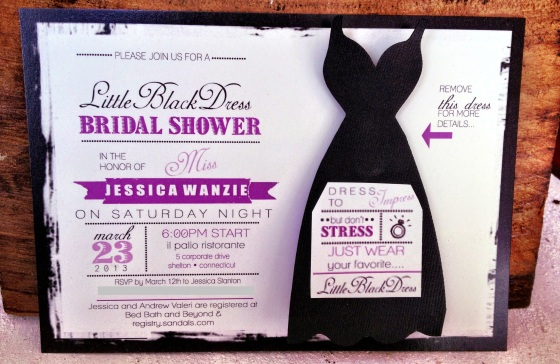 Little Black Dress Shower Invite