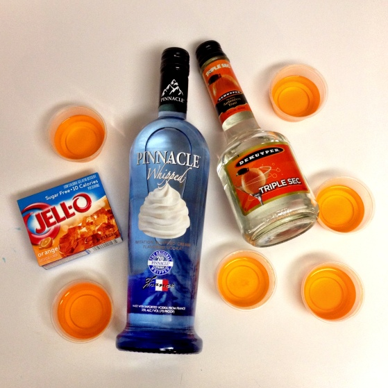 Orange Cream Jell-O Shot