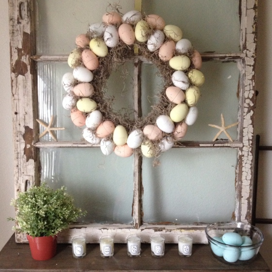 Plastic Egg Wreath